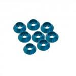 3 mm. ALU. CAP HEAD WASHER BLUE (8pcs.)
