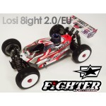 FIGHTER CLEAR BODY FOR LOSI EIGHT/ 2.0 / 2.0EU