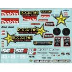 SC8E Decals, Rockstar-Makita