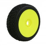 MARATHON BUGGY GREEN PRE-MOUNTED YELLOW (soft compound) (2pcs.)
